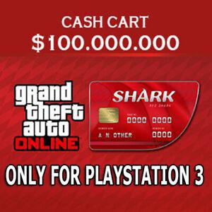 Details about Shark card of gta 5 for playstation 3 of 100 million + bonus!  LIMITED TIME OFFER