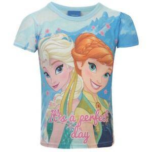 DISNEY-t-shirt-manches-courtes-LA-REINE-DES-NEIGES-3-4-ou-9-10-ans-NEUF