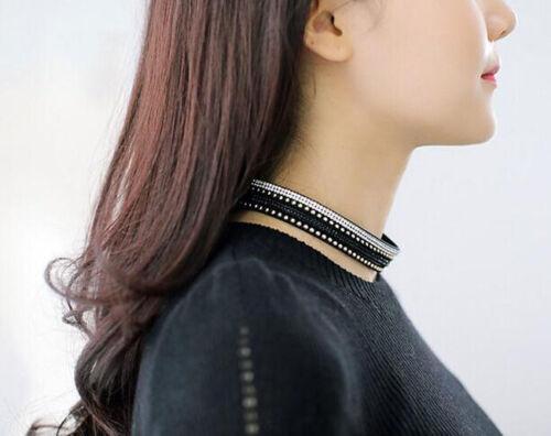 Hot Fashion Leather Wrap Bracelet manchette Punk Cristal strass Bracelet Bangle