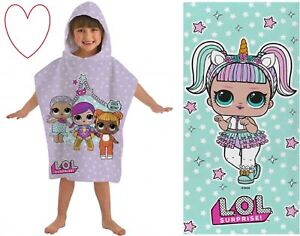 LOL Beach accessories Surprise Dolls Towel Poncho Cotton Swimming Bathtime