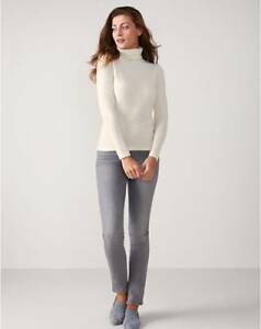 6dbd5726ccbc Image is loading Pure-Collection-Cashmere-Roll-Neck-Sweater-Oyster-RRP-