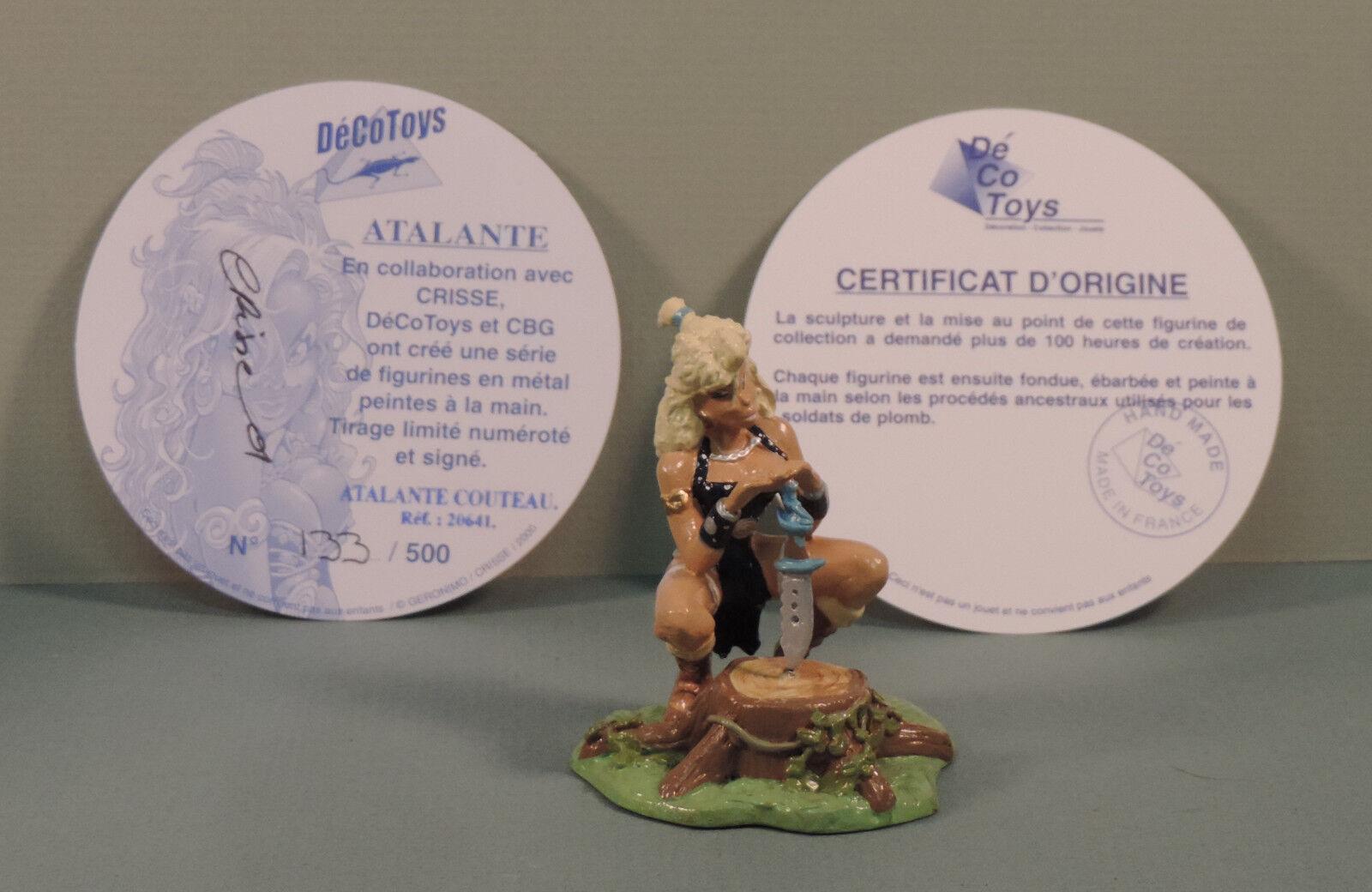 Atalante statuette metal Atalante au couteau Decotoys 20641 limite signe
