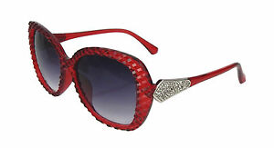 Sonnenbrille rot silber Ella Jonte UV 400 Gläser grau getönt rote Sonnenbrille KsVMEiBcW