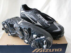 ed47bc37c2f4 NEW MIZUNO 9-SPIKE VINTAGE G4 LOW METAL CLEATS BASEBALL SHOE SIZE ...