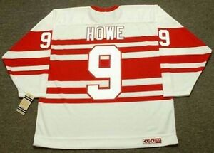 best service 71b5e 24a55 Details about GORDIE HOWE Detroit Red Wings 1940's CCM Vintage Throwback  NHL Hockey Jersey