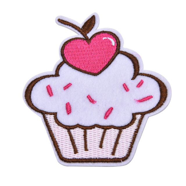 Pink Ice Cream Embroidered Patch Iron On Motif Sew On Iron On Applique DIY
