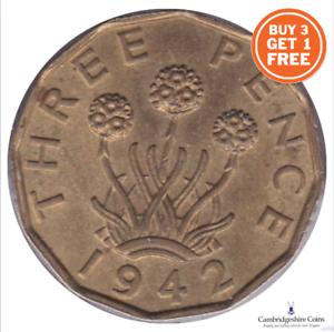 1937 - 1952 George VI en laiton trois pence choisissez votre année Acheter 3 Obtenez 1 Gratuit!!!