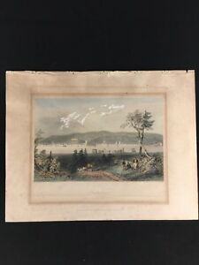 W-H-Bartlett-Hand-Colored-Etching-Fredericton-Published-by-George-Virtue-1842