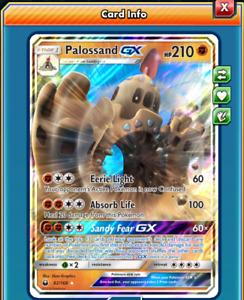 Pokemon TCG ONLINE Palossand GX (DIGITAL CARD) Celestial Storm Ultra Rare