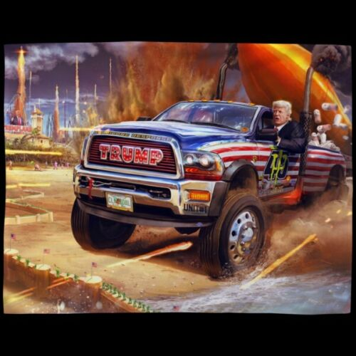 Pintura De Diamante 5D Full Drill 40X40 Cm-Trump Truck
