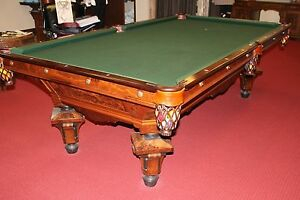 d5191cce0169b Image is loading Antique-Pool-Table