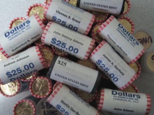 2011 President James Garfield Dollars-Bank Roll Uncirculated. 25 Coins Roll