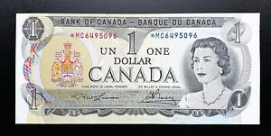 1973-Bank-of-Canada-1-Lawson-amp-Bouey-Replacement-Note-MC6495096-BC-46aA-UNC