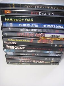 DVD-Lot-14-Horror-Thrillers-Texas-Chainsaw-Massacre-House-of-Wax-Creepshow