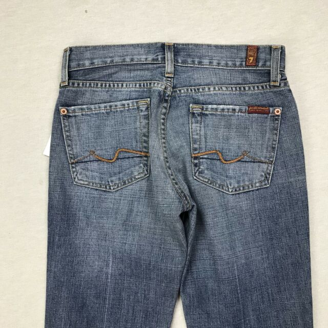 7 For All Mankind Size 24 NWT Women's New York Flare Jeans