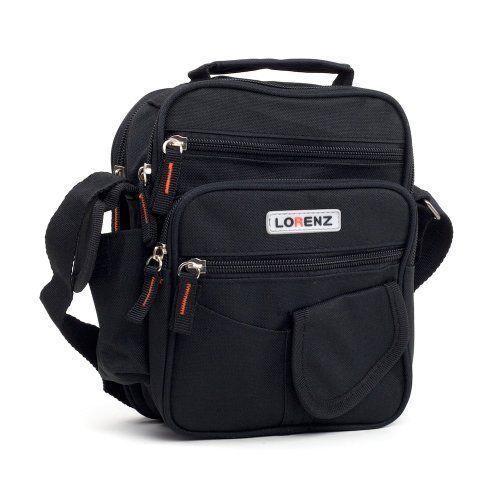 Unisex Lorenz Small Canvas Shoulder Cross Body Multi Functional Bag Holdall 2572
