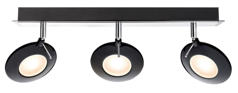 Paulmann Spotlight Orb Balken Schwarz Chrom NEU 3 x 3 Watt LED   | Schöne Kunst  | Erste Qualität  | Leicht zu reinigende Oberfläche