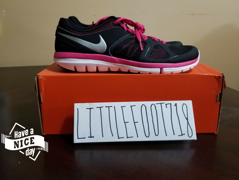Nike Flex 2014 Run Women's Black Pink Athletic Running shoes 642767-002