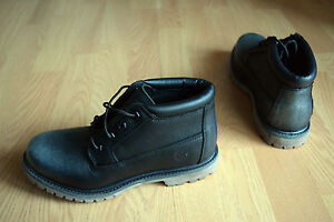 Details about Timberland Nellie Chukka Double Black Boots Women's Leather 37 38 39 40
