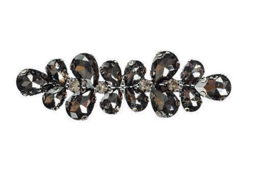 10 x 3cm Black Crystal Rhinestone Diamante Motif Fashion Accessory DIY Patch 211