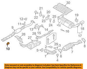 MITSUBISHI OEM 08-15 Lancer 2.0L-L4 Exhaust-Front Pipe Bolt MR597271