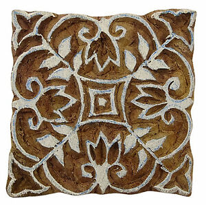 Braune geschnitzte Paisley Stempel Drucken Block Holz Textil-Stempel-Block-Druck
