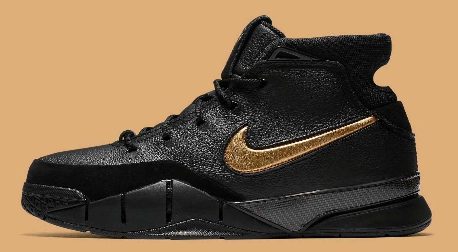 Nike Kobe 1 Predro Mamba Day Black gold Size 14. AQ2728-002.