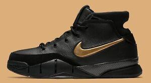 02fe32f0f19 Nike Kobe 1 Protro Mamba Day Black Gold Size 13. AQ2728-002.