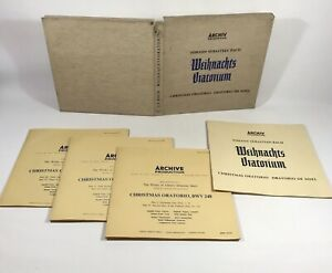 Bach-3x12-034-Vinyl-LP-Box-Set-Weihnachts-Oratorium-Archive-1955-1956