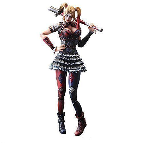 DC Comics Batman Arkham Caballeros Jugar Arts Harley Quinn Figura De Acción Square Enix