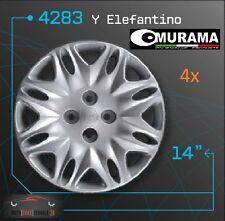 4 Original MURAMA 4283 Radkappen für 14 Zoll Felgen LANCIA Y ELEFANTINO GRAU NEU