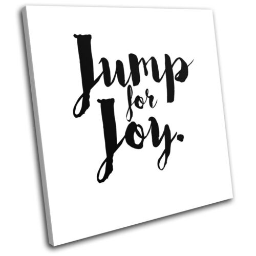 Motivational Joy Quote Typography SINGLE CANVAS WALL ART Picture Print