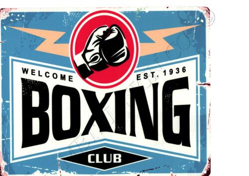 Boxing Club metal wall sign 8x10in pub bar shop cafe games room man cave