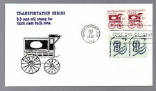 1903 -- Mail Wagon coil stamp -- First Day cover with Virgil Crow cachet