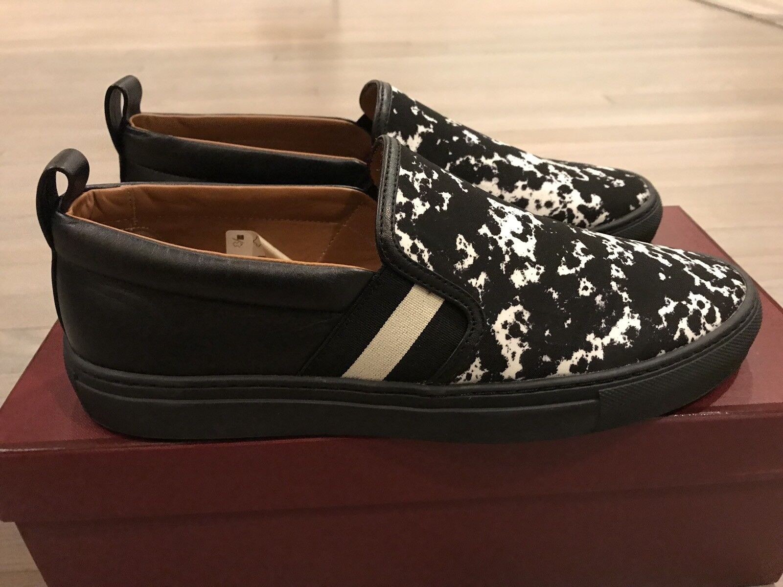550 and Nylon Bally Herald T 00 Pelle and Nylon and Slip on scarpe size US 10   ae10bf