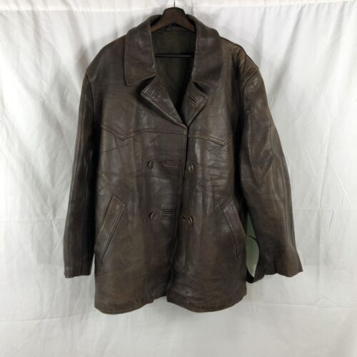 Vintage 1930s Centaur French Leather Riding Jacket