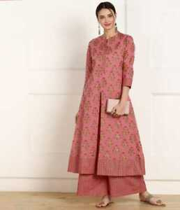 Indian Women Kurta Kurti Bottom Set Ethnic Designer Salwar Kameez Dress S to 2XL