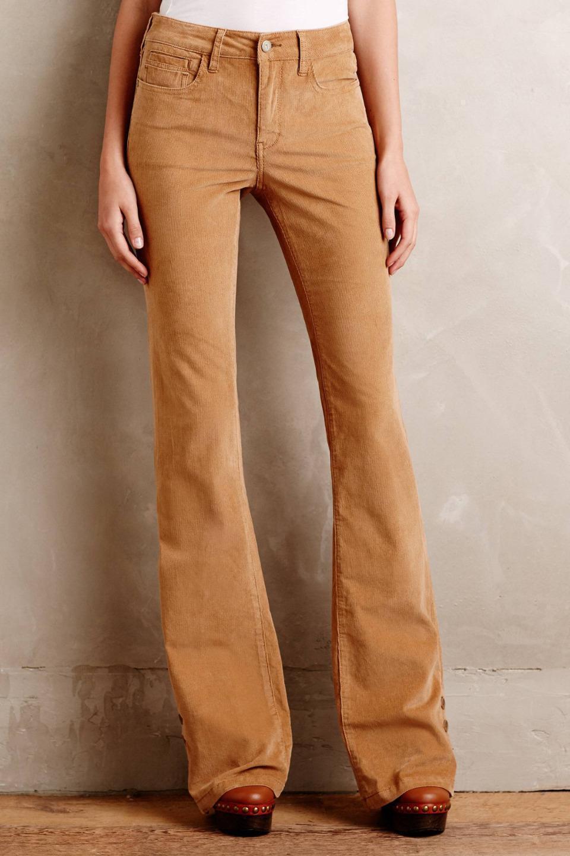 NWT Anthropologie Pilcro Stet Corduroy Flares Pants Size 26