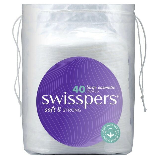 Swisspers Large Cosmetic Oval Pads X 40