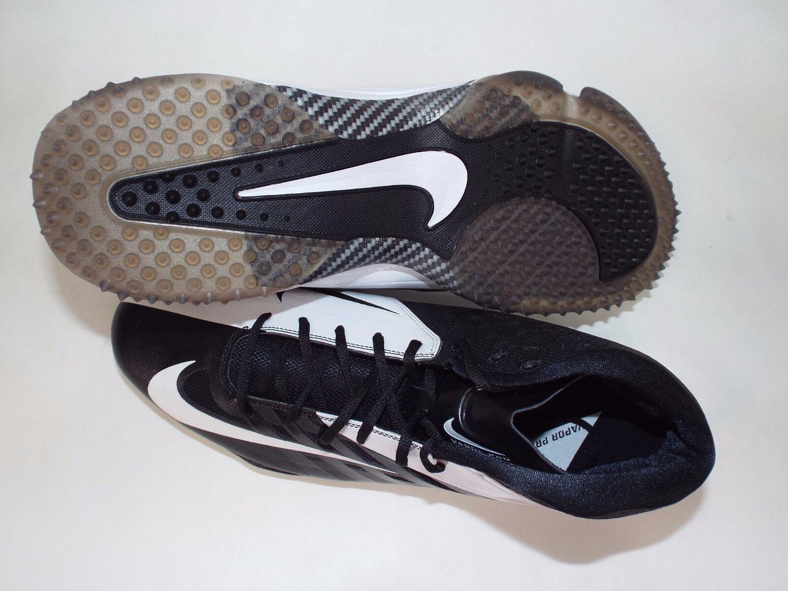 neue männer 18 nike 4 vapor pro 3 / 4 nike nubby schwarz - weiße fußballschuhe schuhe 105 527878-011 1f1b3a