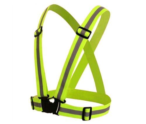 Adjustable High Visibility safety Reflective Vest Walking Jogging Cycling