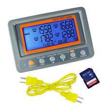 K Type Thermometer Thermocouple 4 Channel Meter Sd Card Logger 328 To 2498f