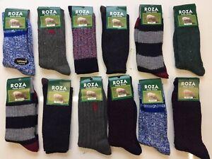 12 Pairs Men/'s Thick Chunky Wool Work Hiking Boot Socks Size UK 6-11 CTRMRV