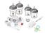 Nuby Newborn Baby Bottles Starter Set Anti Colic 8 Piece Newborn Set 240ml 180ml