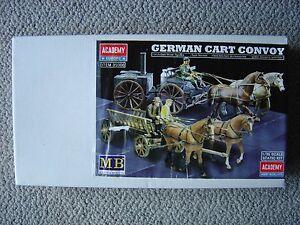 Academy-Masterbox-1-35-German-Horse-Drawn-Wagon-Convoy-WWII