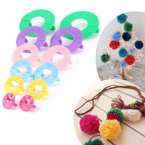 6pcs Pompon Fabricant Métier à tricoter Tricotin Outils artisanaux Guirlandes