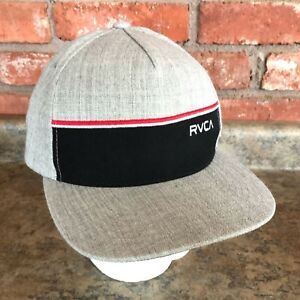 buy popular a0c21 14af5 Image is loading RVCA-by-PM-Tenore-Gray-Twill-Mens-Snapback-