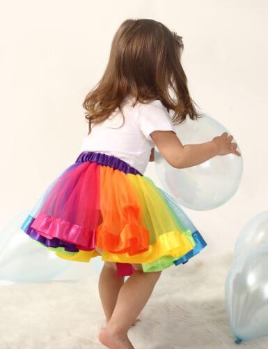 2018 New Adult Childrens//Kids Tutu Skirt Party Fancy Dress Halloween DanceWear