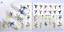 Adesivi-Unghie-Decalcomanie-Nail-Art-WATER-Decals-Stickers-Lavande-Fiori-Farfall miniatuur 18