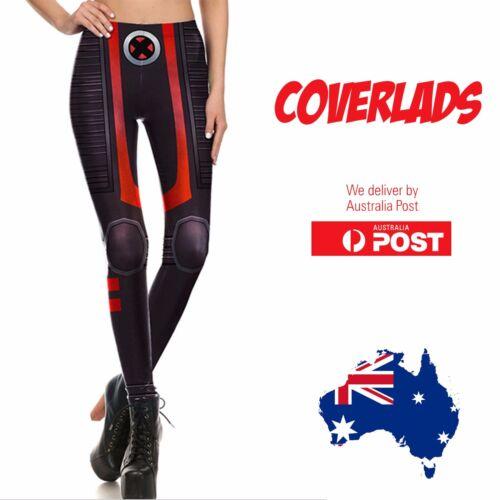 Coverlads X-Men Marvel Themed Yoga Pants Tights Legging Gym Cosplay Printed